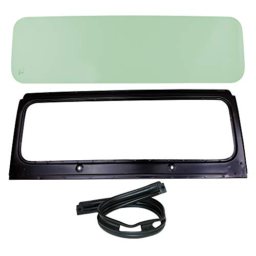 Make Auto Parts Manufacturing Set of 3 Front DOT Approved Windshield Glass, Frame and Cowl Seal KIT for Jeep CJ5 1976-1983, CJ7 1976-1986 and CJ8 Scrambler 1981-1985 - CH1280104