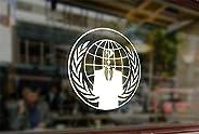 25 Centimeters Anonymous Emblem Hacker Vinyl Stickers Funny Decals Bumper Car Auto Computer Laptop Wall Window