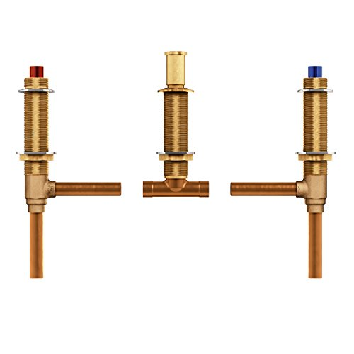 Moen 4792 Two Handle 3-Hole Roman Tub Valve Adjustable 1/2-Inch CC Connection, Brass ()