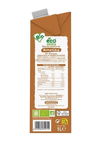 Ecocesta bebida vegetal de almendra sin azúcar Bio 1L ...
