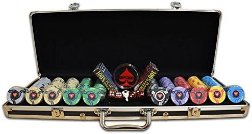 TDPOKER Maletín de Poker Profesional ETP Replica 500 Fichas: Amazon.es: Juguetes y juegos