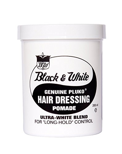Black & White Genuine Pluko Hair Dressing Pomade Ultra White Blend 200Ml
