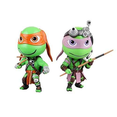 JXMODEL Las Tortugas Ninja Acción Figuras del 4 Piezas Set ...