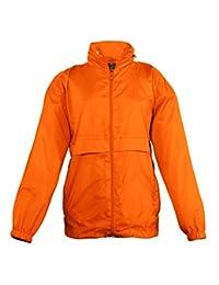 SOLS Kids Surf Windbreaker Jacket Orange 9-11