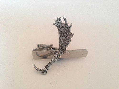 A64Daim de cerf en étain anglais emblème sur une pince à cravate 4cm fait à la main à Sheffield Livré avec prideindetails Boîte Cadeau