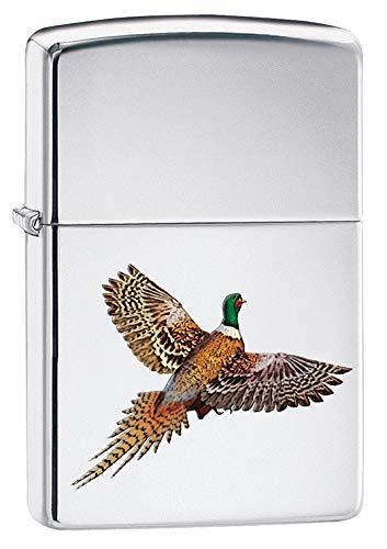 Zippo Lighter: Pheasant Flying - High Polish Chrome 79752