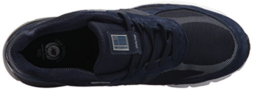 New Balance Mens 990v4 Running Shoe Navy / Bianco