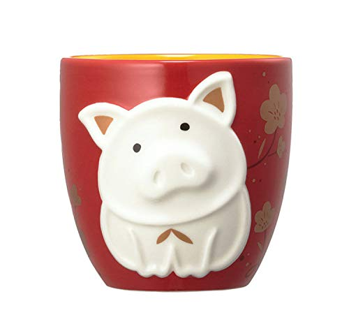 Starbucks 2019 Chinese New Year Pig Limited Edition Zodiac Relief Mug 12 Oz
