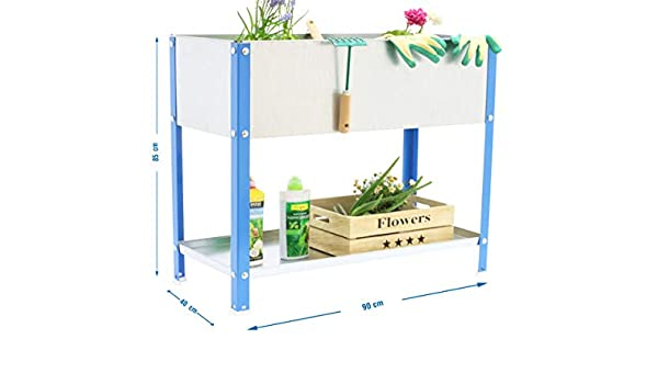 Huerto urbano alto Urban Garden Top Azul/Galvanizado Simonrack 850x900x400 mms - Huerto - Huerto en casa - macetero metálica 100 Kgs de capacidad: Amazon.es: Bricolaje y herramientas