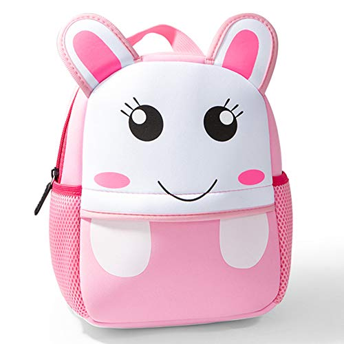 Cute Toddler Backpack Toddler Bag Plush Animal Cartoon Mini Travel Bag for Baby Girl Boy 2-6 Years, Rabbit Small