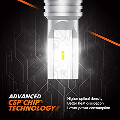 SEALIGHT H11 LED Fog Light H8 H16 LED Bulb CSP Chips 6000K White Non-polarity: Automotive