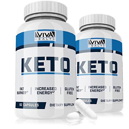 Keto Pills – 2 Pack – from Shark Tank – Ketogenic Fat Burner – for Women Men – Promotes Healthy Energy Levels – Burn Belly Fat Fast – Carb Blocker – Viva Keto – 120 Capsules