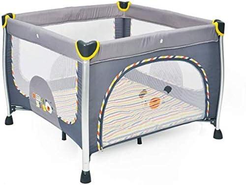 NMDCDH Firsthgus Baby Playpen Baby Fence, Patio de Juegos Plegable portátil con Ruedas Cama Cuna de Viaje Cuadrada con Cojines y Estuche de Transporte - (Instalación Gratuita) 4 Colores Disponibles: Amazon.es: Hogar