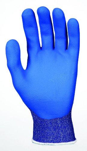Memphis Glove 9672DTL Diamond Tech 3 Dyneema Technology Shell Gloves with Bi-Polymer Coated Palm/Fingers, Blue/White, Large, (Bi Polymer Gloves)