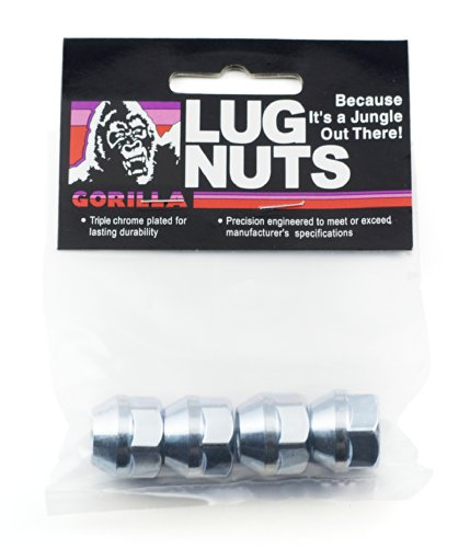Gorilla Automotive 90037B Acorn Bulge Open End Lug Nuts (12mm x 1.50 Thread Size) (Toyota Echo Lug Nuts)