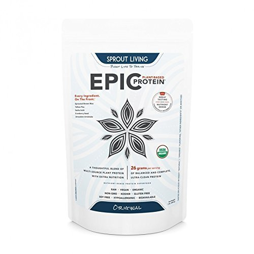 Sprout Living Epic Protein Powder, Original, 1 LB by Sprout Living