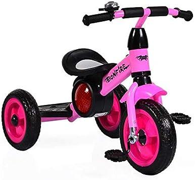 Moni Hoguera de Triciclo con neumáticos de EVA, Estribo, música, luz, Timbre de Bicicleta, Color:Rosa: Amazon.es: Juguetes y juegos