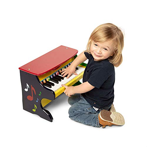 "Melissa & Doug Learn-to-Play Piano (Musical Instruments, Solid Wood Construction, 25 Keys and 2 Full Octaves, 11.5"" H x 9.5"" W x 16"" L, Great Gift for Girls and Boys - Best for 3, 4, and 5 Year Olds)"