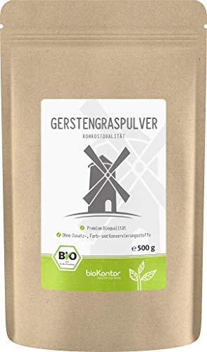 BIO Gerstengraspulver 500g | Gerstengras gemahlen | 100% naturrein | Rohkostqualität | aus Deutschland bioKontor