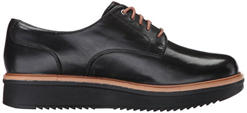 Clarks Mujeres Teadale Rhea Oxford Black Leather