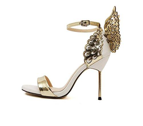 Chaussures Banquet Papillon Ailes Fines Avec Des Hauts Talons Des Sandales De Femmes gold f0wB6qcEe