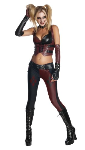 Secret Wishes Batman Arkham City  Adult Harley Quinn Costume Multi-Colored X-Small