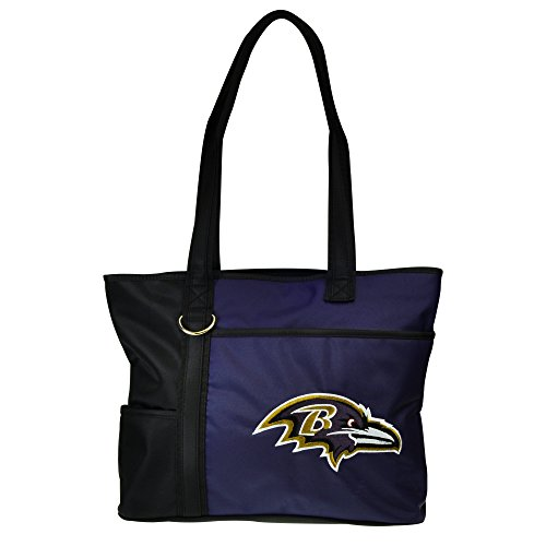 Baltimore Ravens Embroidered Football (NFL Baltimore Ravens Tote Bag with Embroidered Logo)