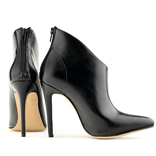 toe Elegant ankle Over Pointed Boots Heels Black Women Shoes Lady High Club Wotefusi Office Stiletto Sexy Xqtwq0