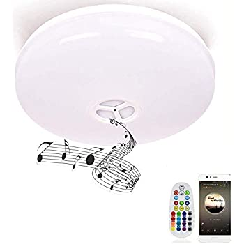 Le 24w Dimmable Led Music Ceiling Lights With Bluetooth