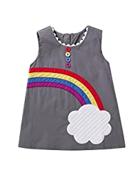 1-4T Toddler Baby Girl Dress, Changeshopping Rainbow Cloud Pattern Vest Dress