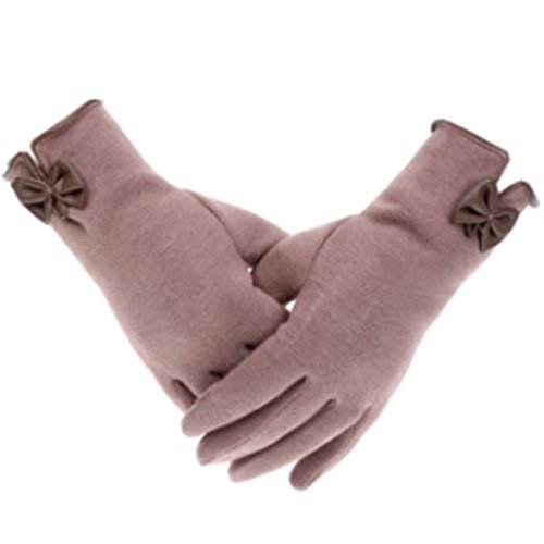 Women's Cashmere Touchscreen Warmer winter Gloves Cashmere Gloves (Kahki) by SIJ (Image #4)