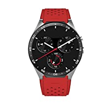 KW88 Android 5.1 3G Smart Watch Quad Core 4GB Bluetooth Camera WIFI SIM Card Heart Rate Monitor