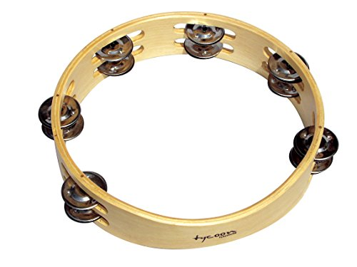 Tycoon Percussion Round Wooden Tambourine