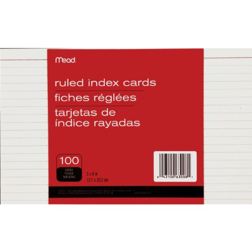 Mead : Index Cards, Ruled, 5