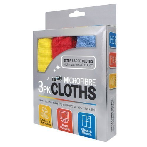 Keep it Handy MicroFibre Cloth, Extra Large, 30 X 30 cm, 3-Pack Keep-It-Handy