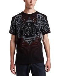 Liquid Blue Men's AC/DC Salute T-Shirt, Black, Medium