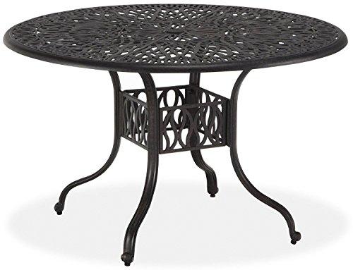"""Heritage Outdoor Living Santa Clara Cast Aluminum 48"""" Dining Table - Antique Bronze"""