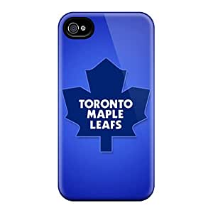 Great Hard Phone Cases For Apple Iphone 4/4s With Support Your Personal Customized Vivid Toronto Maple Leafs Image LeoSwiech