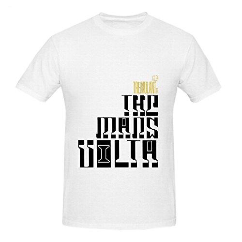 Mars Volta Tremulant Ep Soundtrack Men Round Neck Screen Printed Shirt White