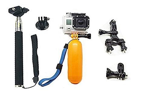 PANMARI Gopro palo selfie palo trípode monopod con GoPro corcho flotador para cámara de acción sj5000 Xiaomi yi accesorios sj4000 GoPro HD: Amazon.es: ...