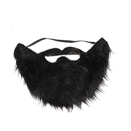 BinaryABC Fake Beard and Mustache,Halloween Costume Party Festival Supplies (Black)]()