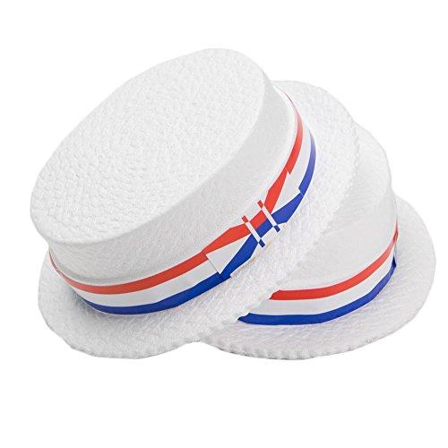 Jacobson Hat Co. Styrofoam Patriotic Skimmer Hats