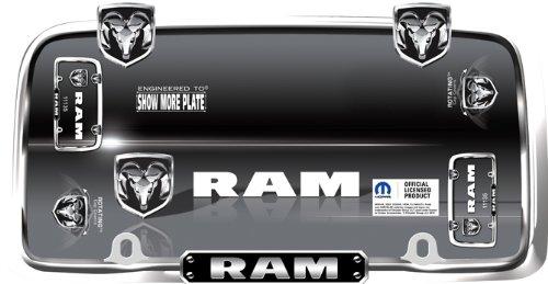 (Cruiser Accessories 11135 RAM License Plate Frame, Chrome/Black)