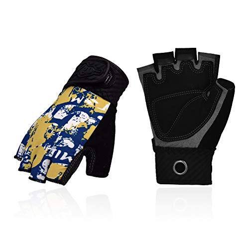 Vgo... 2Pairs Age 5-6 Kids Half-Finger Breathable Climbing Gloves Outdoor Adventure Gloves with Anti-Slip Padding Palm(Size M, Blue, SL3101)