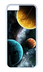 Different colors of the three planets PC White Hard Case for Apple iPhone 6(4.7 inch)