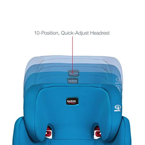 41y4KQFdbqL - Britax Skyline 2-Stage Belt-Positioning Booster Car Seat - Highback And Backless | 2 Layer Impact Protection - 40 To 120 Pounds, Teal