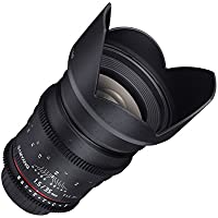 Samyang SYCV35M-MFT 35mm t1.5 Ultra Wide Cine Angle Lens for Olympus/Panasonic Micro 4/3 Cameras