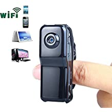 Novelt'y Mini Portable P2P IP Wifi Hidden Camera Wireless Video Camera Camcorder HD Cam data Recorder for Iphone Android Wifi Spy Camera Micro Camera Personal body Security