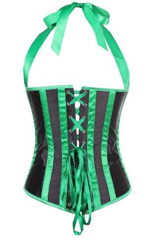 ZAMME Corsé de la belleza del cuerpo de las mujeres Corsé atractivo S-6XL del halter de Underbust Verde