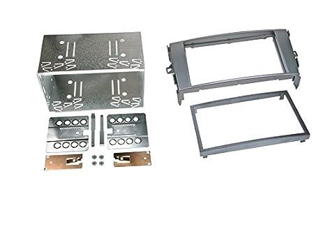 Autoradio Einbauset 2-DIN Dacia Duster 10-13 Kabel Einbaurahmen grau